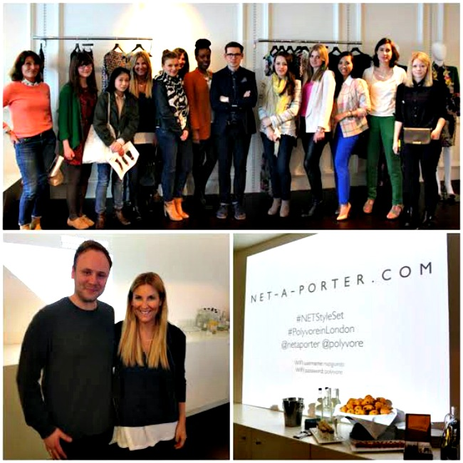 POLYVORE MEET UP AT NET A PORTER HEADQUARTERS WITH ERDEM &  NICHOLAS KIRKWOOD