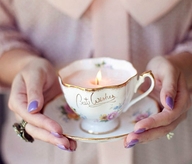 Candle-tea-cups